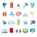 Hotel and motel services icons vector icon set Stock Photography