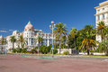 Hotel negresco on english promenade in nice france october view of des anglais with one of the famous landmarks of the city Stock Photo