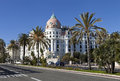 Hotel negresco palatial is the famous luxury on the promenade des anglais in nice a symbol of the cote d azur Stock Images