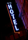 Hotel Neon Sign Royalty Free Stock Image