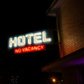Hotel No Vacancy Neon Sign Royalty Free Stock Photo