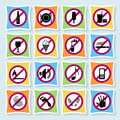 Hotel pictograms_ban-03 Royalty Free Stock Images