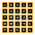 Hotel pictograms inverse Royalty Free Stock Photo