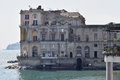 Hotel in Posillipo and Gulf of Naples, Italy. Royalty Free Stock Photo