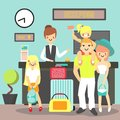 Hotel reception vector illustration in flat style Royalty Free Stock Photo