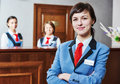 Hotel reception worker Royalty Free Stock Photo