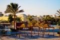 Hotel resort in egypt Royalty Free Stock Photo