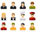 Hotel and restaurant staff icons Stock Images