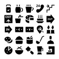 Hotel & Restaurant Vector Icons 8 Royalty Free Stock Photo