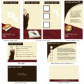 Hotel retro template design brochure cd cover and business card in one package and fully editable Stock Photo