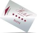 Hotel room key card Royalty Free Stock Photo