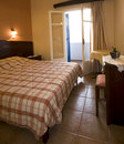 Hotel room oia ia santorini greek islands greece Royalty Free Stock Photos