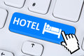 Hotel room online internet booking computer Royalty Free Stock Photo