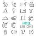 Hotel service icons set.