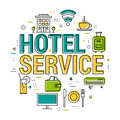 Hotel service letters - Line Concept Royalty Free Stock Photo