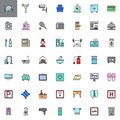 Hotel services and facilities filled outline icons set Royalty Free Stock Photo