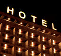 Hotel sign Royalty Free Stock Photo