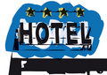 Hotel sign (vector) Royalty Free Stock Images