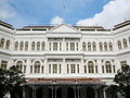 Hotel singapore raffles in city Royalty Free Stock Photo