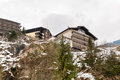Hotel in ski resort Bad Gastein in winter snowy mountains, Austria, Land Salzburg Royalty Free Stock Photo