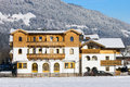 Hotel a in ski resort of flachau austria Royalty Free Stock Photo