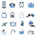 Hotel symbols icon set Stock Image