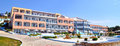 Hotel in thassos beautiful with a pool island greece Royalty Free Stock Photos