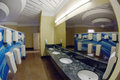 Hotel toilet luxury room in fisheye view Royalty Free Stock Images