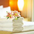 Hotel towels Royalty Free Stock Image