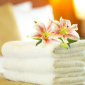 Hotel towels Royalty Free Stock Photos