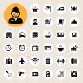 Hotel and travel icon set illustration eps Royalty Free Stock Photos