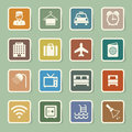 Hotel and travel icon set illustration eps Royalty Free Stock Photography
