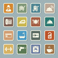 Hotel and travel icon set illustration eps Stock Image