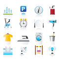 Hotel and travel icons Royalty Free Stock Photo