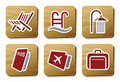 Hotel and Travel icons | Cardboard series Stock Images