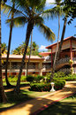 Hotel at tropical resort Royalty Free Stock Photography