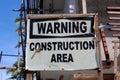 Hotel under construction, warning sign Royalty Free Stock Photo