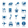 Hotel & vacations icon set Royalty Free Stock Photos