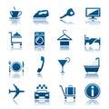Zařízení poskytující ubytovací služby prázdnin sada skládající se z ikon