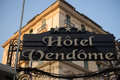 Hotel vendome nice france la petite table Stock Photography