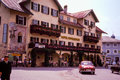 Hotel wittelsbach berchtesgaden germany vintage s image of the famous in image taken from color slide Royalty Free Stock Photo