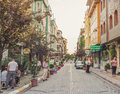 Hotels area in Fatih Istanbul. Royalty Free Stock Photo