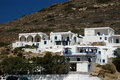 Hotels on the hill Folegandros Cyclades Greece Royalty Free Stock Images