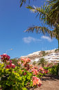 Hotels of puerto rico hillside in gran canaria canary islands spain Stock Photos
