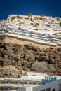 Hotels of puerto rico hillside in gran canaria canary islands spain Stock Image