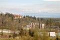Hotels of Tatranska Lomnica in springtime Royalty Free Stock Photo