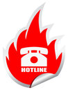 Hotline emblem Royalty Free Stock Photo