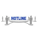 Hotline with people around d rendered Royalty Free Stock Photography