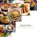 Hoto collage of vegetarian food Royalty Free Stock Photo