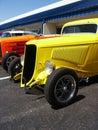 Hotrods an einem Car Show Stockbild